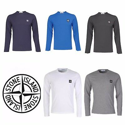 Men's Stone Island Long Sleeve  Crew neck T-Shirts