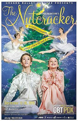OREGON BALLET 2015 POSTER Nutcracker Portland Oregon