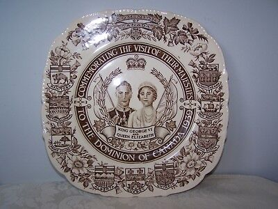 King George Vi And Queen Elizabeth Visit To Dominion  Of Canada 1939 Plate