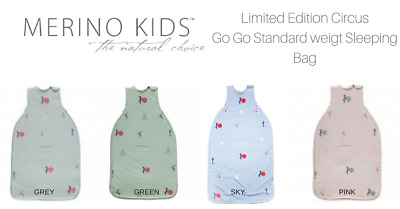 Merino Kids Go Go Bag Circus Print - Limited Edition 4 Colours FREE SHIPPING