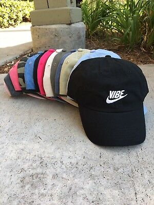bff7fdcf Just Vibe Swoosh Unstructured EMBROIDERED Dad Hat Adjustable Cap Multi  Colors