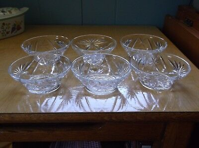 6 Anchor Hocking Pineapple design Custard Fruit Berry Bowls - EAPC