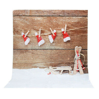 3x5ft Snow Christmas Photography Vinyl Background Photo Studio Backdrop Props