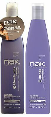 Nak Blonde Plus Shampoo 375 Ml And Blonde Conditioner 375 Ml Free Shipping