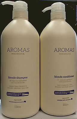 Nak Aromas Blonde Shampoo With Argan Oil 1 Litre And Conditioner 1 Litre