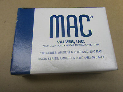 NEW Mac Valve 45A-SA1-DFBJ-1TN Pneumatic 24VDC Solenoid Air Valve