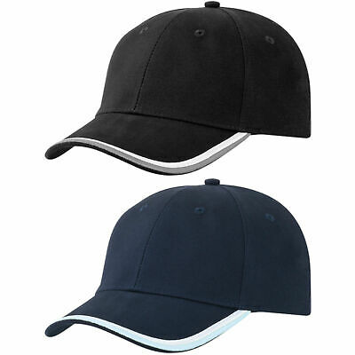 Adults Structured 6 Panel Cotton Twill Cap | Contrast Colour Stylish Headwear