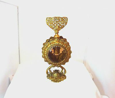 Vintage Stylebuilt Large 24k Gold Plated Filigree,Ormolu Perfume Bottle