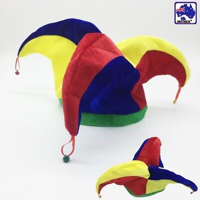 Funny Jester Clown Costume Hat Mardi Gras Carnival Halloween Party CAHA87207