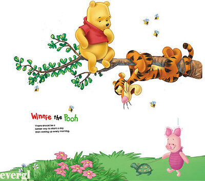 Bear Winnie the Pooh Tigger Wall Sticker Decor Decals Kids Nursery Decor PVC diy