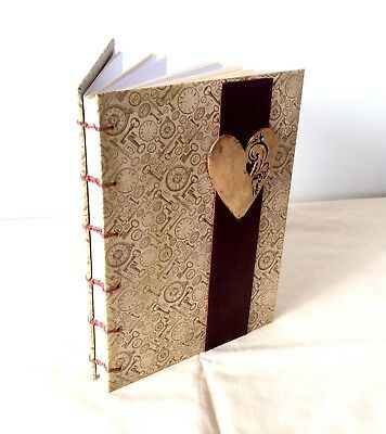 Handmade JOURNAL NOTEBOOK TRAVEL DIARY BOOK Vintage BLANK Pages Australian Made
