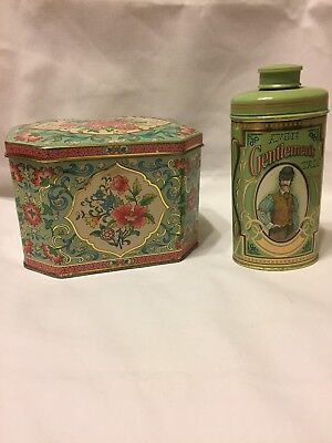 Vintage Daher Floral Tin Made in England and Avon Gentlemen's Talc