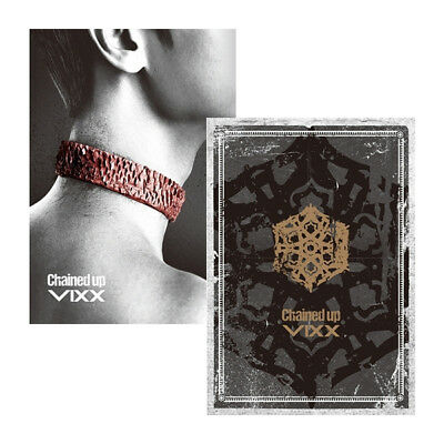 VIXX [CHAINED UP] 2nd Album CD+76p Photo Book+Paper+Card+Tattoo Sticker SEALED