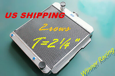 "T=2¼"" ALUMINUM RADIATOR CHEVY Delray Bel air W/OIL COOLER ENGINE V8 283/348 1958"
