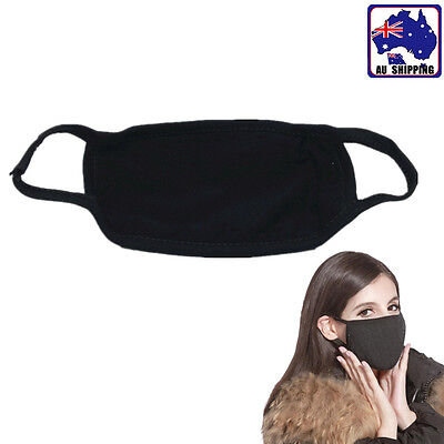5pcs Unisex Men Women Cotton Cycling Anti-dust Mouth Face Mask Black TMAS87705x5
