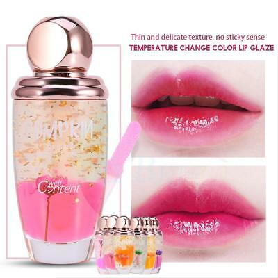 Magic Women Transparent Flower Jelly Lipstick Temperature Color Changing Beauty*