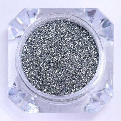 0.2G Mirror Nail Powder Dust Born Pretty Silver Chrome Pigment Glitter Decor DIY