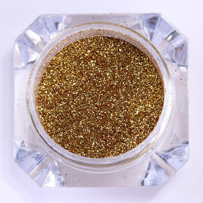 0.2G Mirror Nail Powder Dust Born Pretty Gold Chrome Pigment Glitter Tips Decor