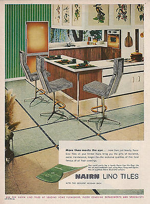 Nairn Lino Tiles Retro Kitchen 1962 Advertising