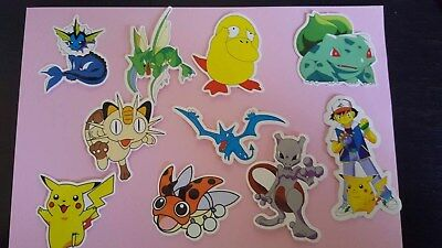 POKEMON sticker PACK OF 10 decal laptop wall unused uncut quality 2