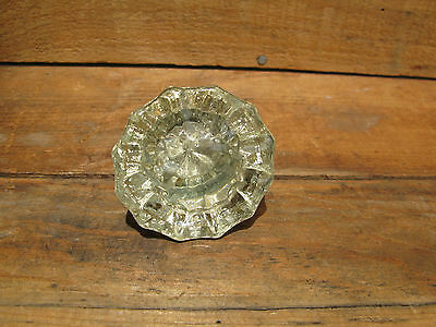 Vintage Estate Find Art Deco Clear Glass Door Knob Handle