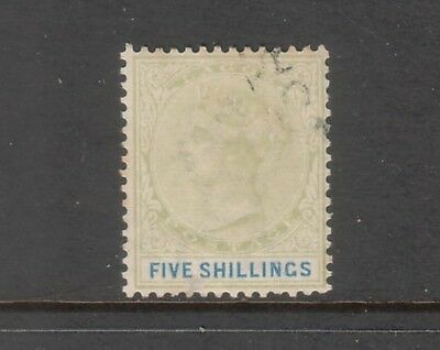LAGOS....  1887  5s green and blue used....cv £150