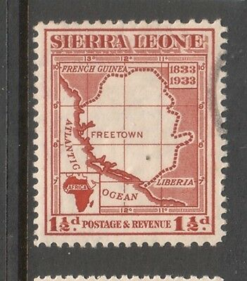 SEIRRA LEONE....  1933  ½d map used