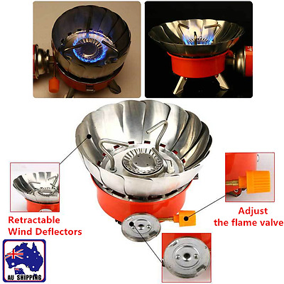 Folding Mini Stove Burner Butane Gas Cooker Outdoor Camping Windproof OBBQ88001