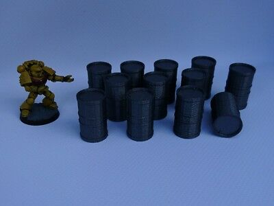 *SCENERY* barrels, 40K, Necromunda, Malifaux Bolt Action Warhammer Shadow War