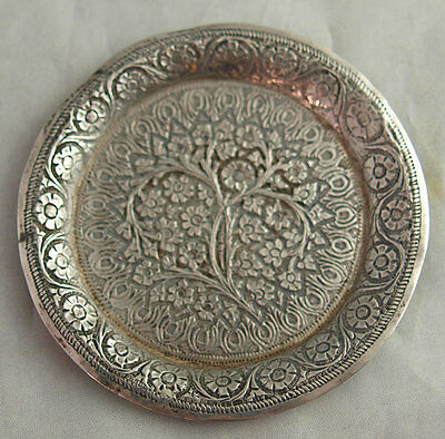 Pretty Indian Solid Silver Pin Dish