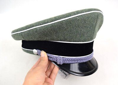 Military WWII WW2 German Elite Officer Hat Officer Army Cap 57 58 59 60 61cm