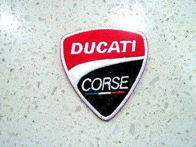 New Ducati Corse Logo Embroider Cloth Patch Applique Badge Iron Sew On Patches