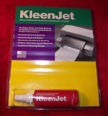 Cleaner Solution KLEENJET Solvent & Cleaning Sheets for all InkJet Printers