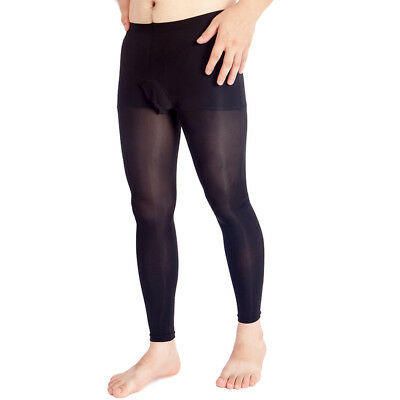 Men Footless Pantyhose Tights with Pouch
