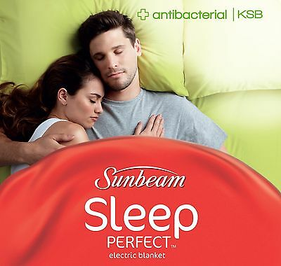 Sunbeam BL5331 Sleep Perfect™ Antibacterial Heated Blanket - King Single Bed