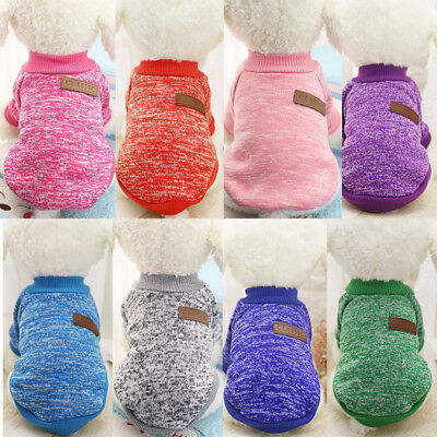 Pet Dog Warm Jumper Sweater Clothes Puppy Cat Knitwear Knitted Coat Winter