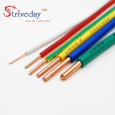 1/5/20/50Meters ZR BV-1.5mm Square Single core hard Wire Copper Electronic Wire