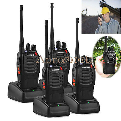 4PCS Baofeng Two-way Walkie Talkie BF-888S UHF 400-470MHz Ham Radio Long Range
