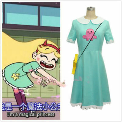 Star vs.the Forces of Evil Magic Princess Star Butterfly Dress Cosplay Cos