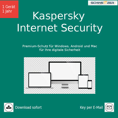 Kaspersky Internet Security, Upgrade, 1 Gerät, 1 Jahr, Download (2018)