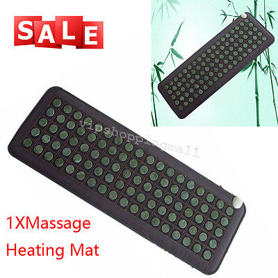 Compact Natural Jade Tourmaline Stones Infrared Heating Mat Healthy Easy Use