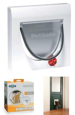 PetSafe 917EF Staywell Manual 4-Way Locking Classic Cat Flap with Tunnel Pet New