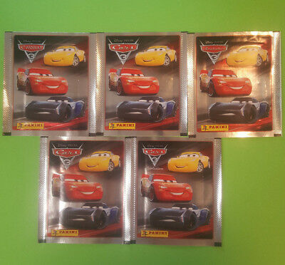 Panini Disney Cars 3 Sticker 5 Tüten Booster 25 Sticker OVP
