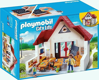 Playmobil City Life 6865 School House with Moveable Clock Hands