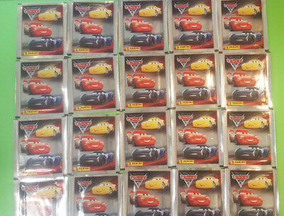 Panini Disney Cars 3 Sticker 25 Tüten Booster 125 Sticker OVP