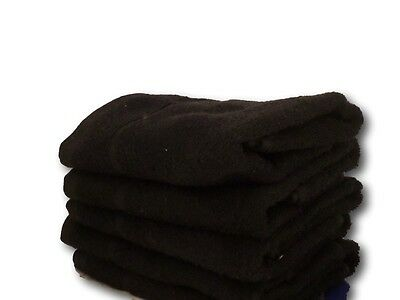 Black & White Hairdressing towels; Black: Bleach Resistant, Plain Dyed and White