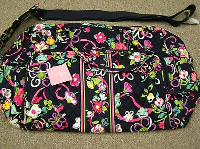 Vera Bradley Weekender Large Travel Tote Bag (Ribbons)  New  +  FREE Ditty Bag!