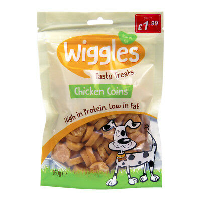 Wiggles Natural Chicken Coins Healthy Dog Treats 120 grams 100% Chicken LOW FAT
