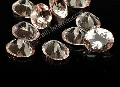 Natural Peach Morganite Oval Cut 4x6mm to 10x12mm Top Quality Loose Gemstone Lot
