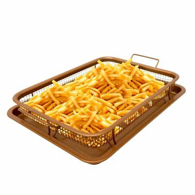 Gotham Steel Crisper Tray with Elevated Mesh Crisping Basket